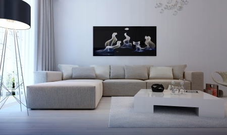 modern sofa: Modern interior living