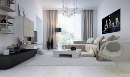 Modern interior living