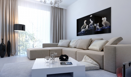 overview: Modern interior living