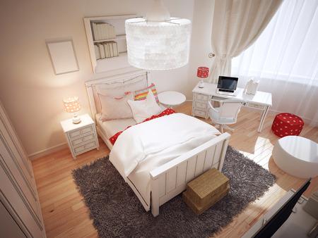 Idée de l\'art déco chambre. 3D render