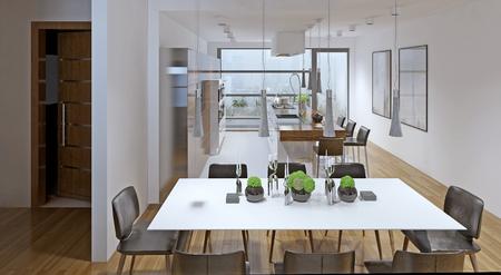 fridge lamp: High-tech dining trend. 3D render