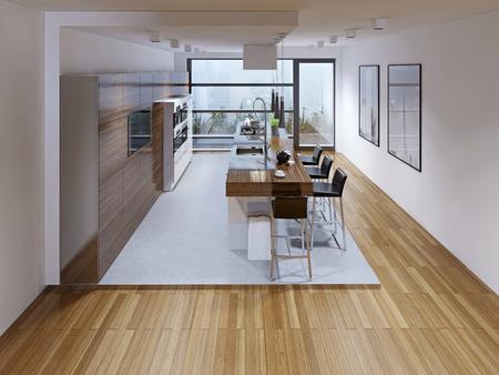 Diseño de una cocina moderna con isla. diseño de una cocina ...