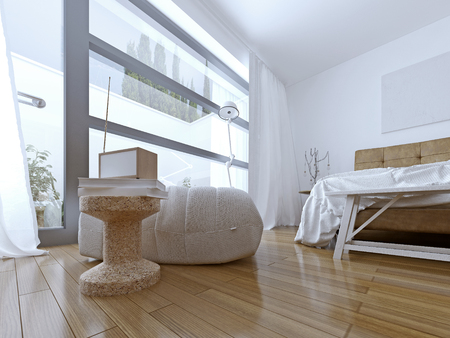 modern apartment: Room for a teenager. 3D render