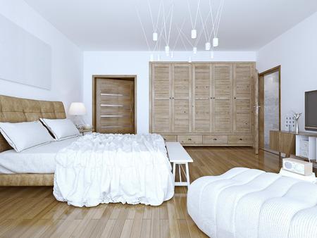 bedchamber: Idea of spacious loft bedchamber