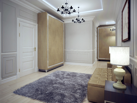 avantgarde: Spacious avant-garde entrance trend. 3D render