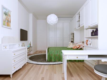 Beeindruckende Geräumiges Schlafzimmer Alle Guten Ideen Für Jugendliche Zu  Implementieren. Helle Farben Aufzumuntern Und Den Ganzen Tag Energie.
