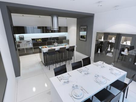 Keuken Design Moderne : Moderne keuken design interieur van de moderne keuken met witte
