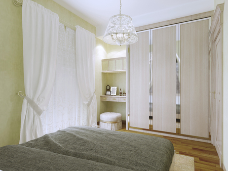 Expensive bedroom art deco style. interior bright bedrooms made ...