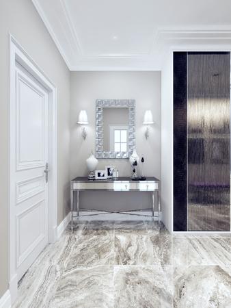 Idea Of Art Deco Hallway. 3D Render Photo