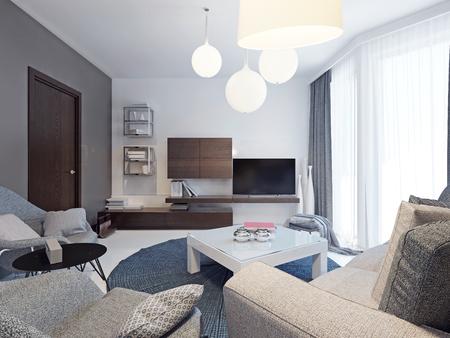Kleurrijke Witte Woonkamer : Lichte moderne woonkamer trend. ontwerpideeën voor een mid sized