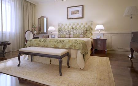 master bedroom: Idea of master english bedroom . 3D render