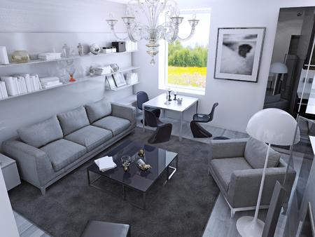 Das Moderne Wohnzimmer Mit Tageslicht Das Moderne Wohnzimmer Mit ...