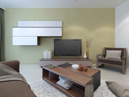 pieza de esquina para sala de estar Blanco De La Sala De Estilo Moderno Gran Saln Luminoso