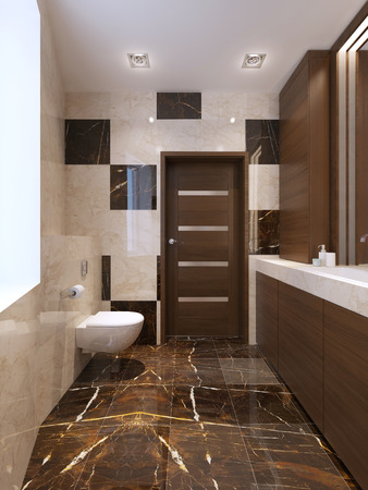 interrior: Modern bathroom interrior. 3d render Stock Photo