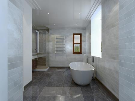 avantgarde: Bathroom avant-garde style. 3d render