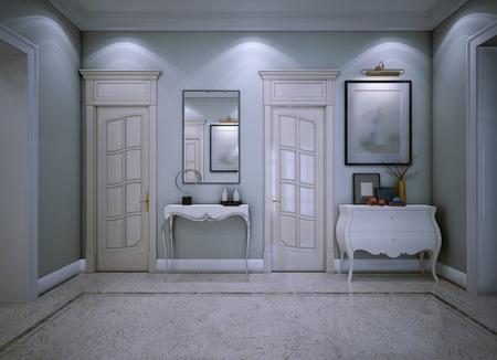 avantgarde: Entrance hall avant-garde style. 3d render