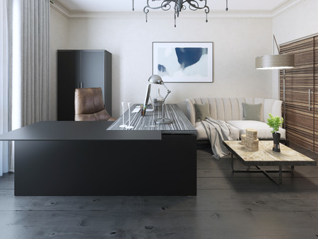 avant garde: Secretary room avant garde style. 3d render