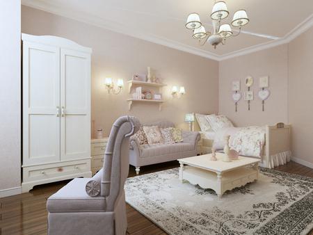 avantgarde: Avant-garde bedroom design. 3d render