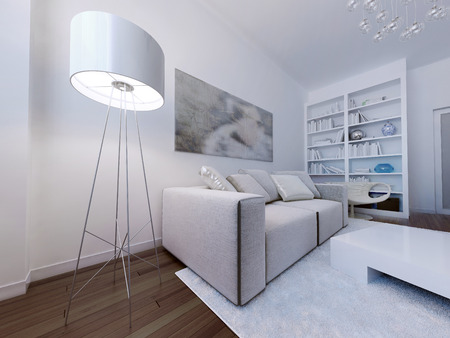 contemporary living room: Contemporary living room design. 3d render