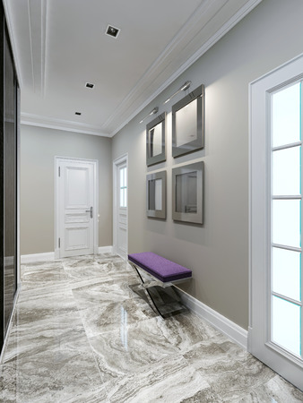 avantgarde: Avant-garde entrance hall design. 3d render Stock Photo