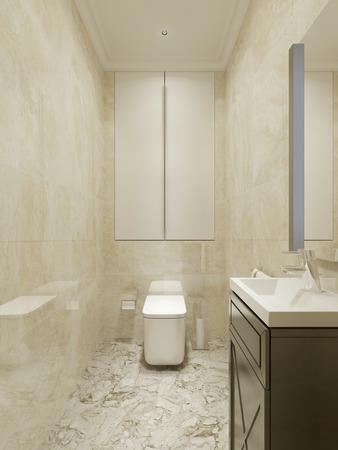 hormig�n: Bathroom classic design. 3d render