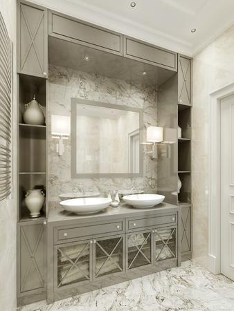 render: Bathroom Avant-garde style. 3d render Stock Photo