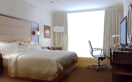 room air: Bedroom modern interior, 3d images
