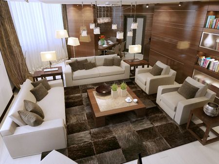 contemporary living room: Living room contemporary style, 3d images