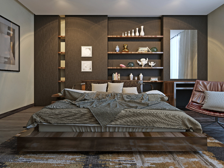 wood room: Bedroom Contemporary style, 3d model
