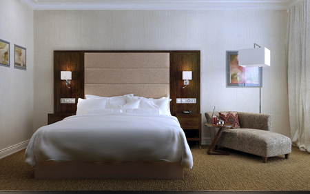 guest room: Guest Room Contemporary style, 3d images