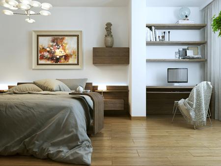 room decor: Bedroom modern interior, 3d images