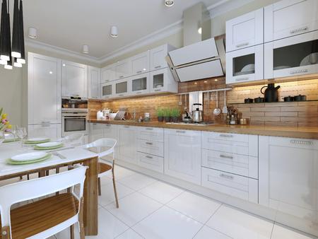 Moderne keuken. 3d render