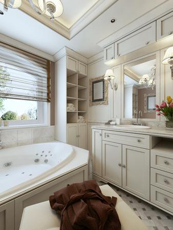 avantgarde: Bathroom design avant-garde. 3d render