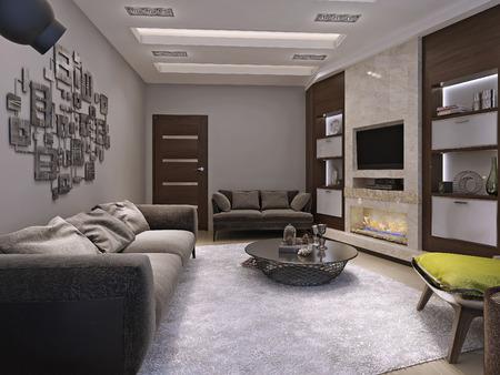 wenge: Living room minimalism style, 3d images