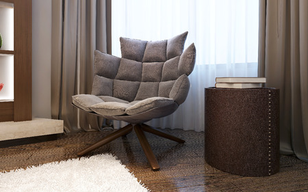 Armchair in living room modern style , 3d images