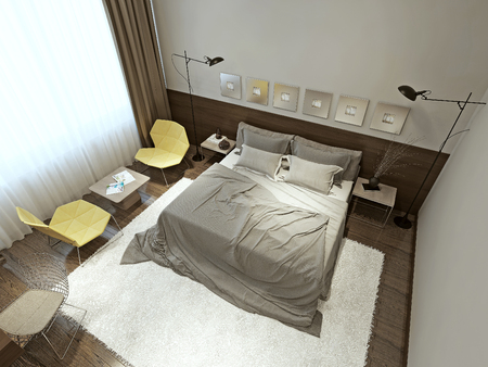 contemporary style: Bedroom contemporary style, 3d images