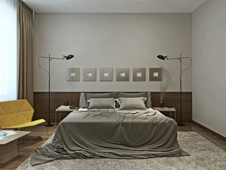 Bedroom contemporary style, 3d images