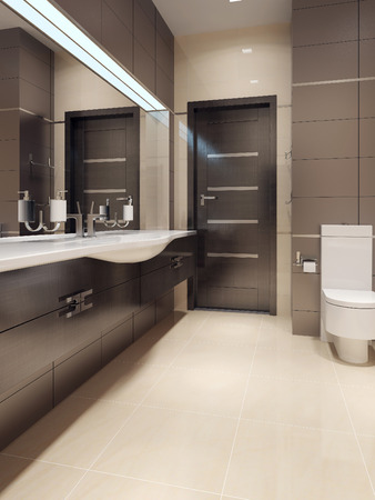 heated: Bathroom in contemporary style. 3d images