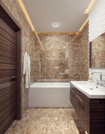 #47275993   Bathroom Minimalism Style. 3d Images