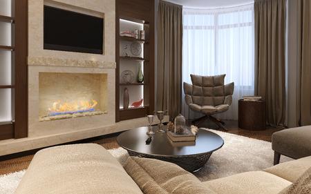 wenge: Living room avant-garde style, 3d images