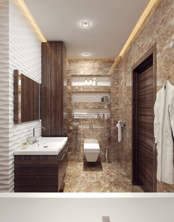 #47276001   Bathroom Modern Style. 3d Images