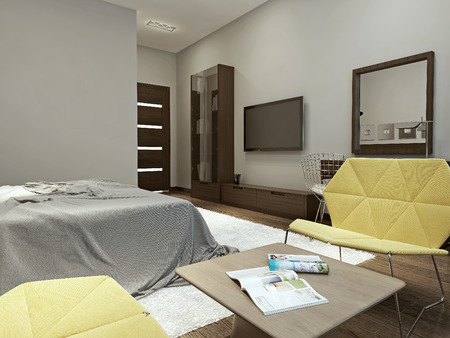 wenge: Bedroom contemporary style, 3d images