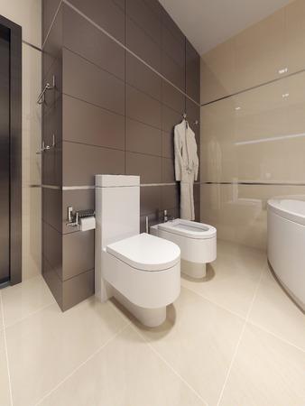 #47271748   Bathroom Minimalism Style. 3d Images