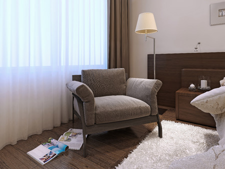 armchair in a modern style, 3d images