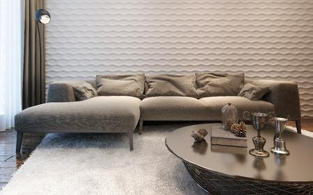 living room sofa: Living room modern style , 3d images