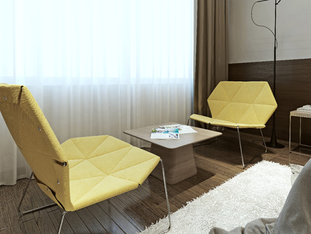 Chair in contemporary style, 3d images Stock Photo
