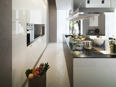 contemporary kitchen: Kitchen contemporary style, 3d images