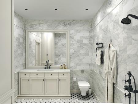 avantgarde: Bathroom avant-garde style, 3d images Stock Photo