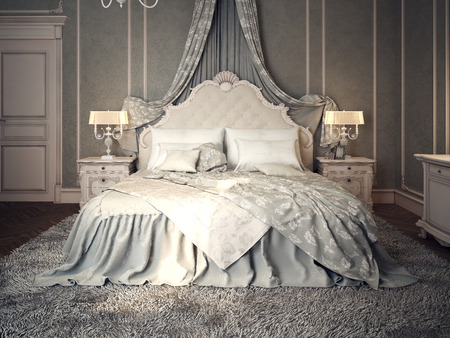 chambre � coucher: Int�rieur de la chambre classique. Images 3D