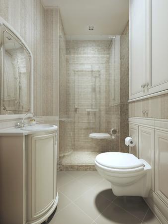 neoclassic: Bath art deco style. 3d images